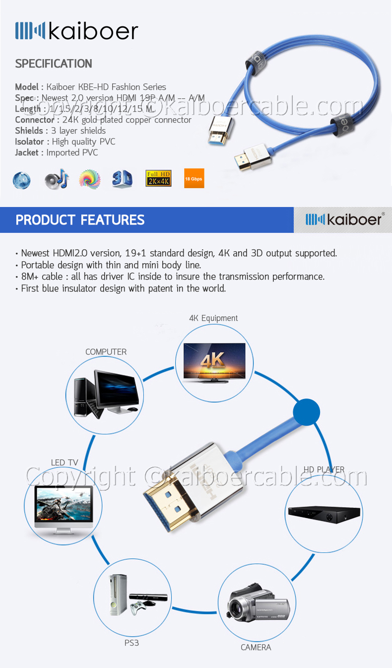 Kaiboer_KBE_HD_Series_Fashion_HDMI_Cable_1