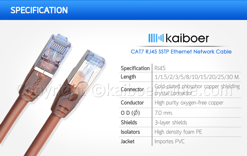 Kaiboer_Cat7_Specification